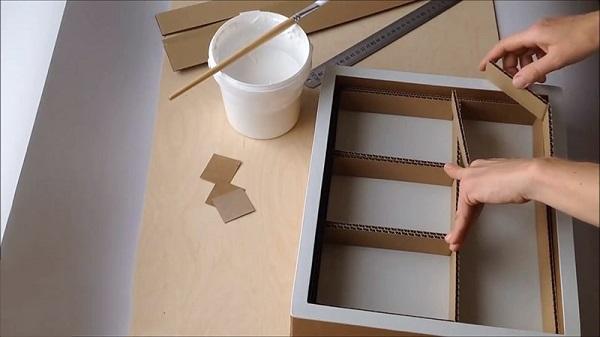 hướng dẫn làm kệ sách bằng giấy
