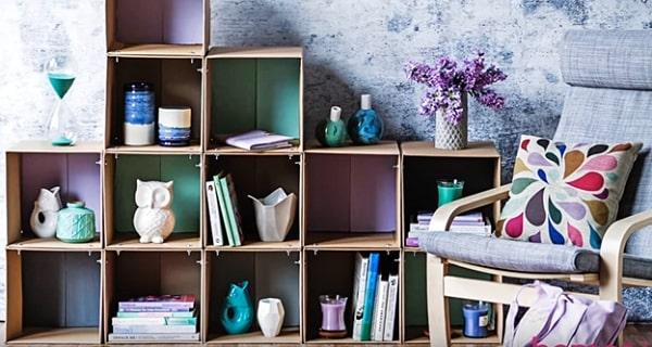 cách làm kệ đựng sách bằng thùng carton