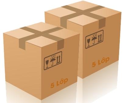 kiểu dáng thùng carton 5 lớp