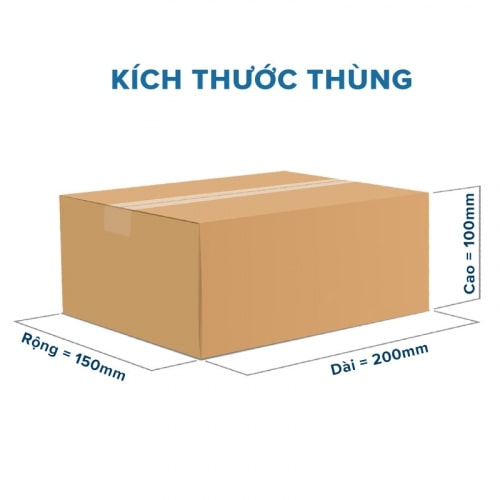 xác định kích thước của thùng carton