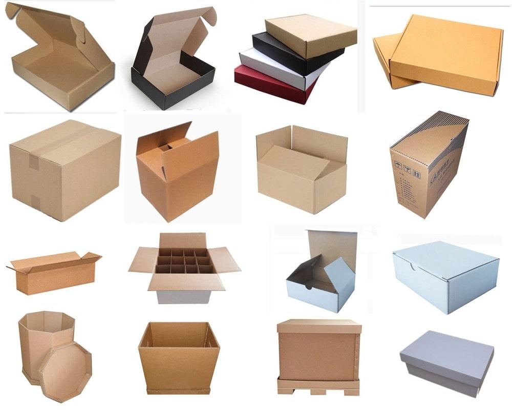 thùng carton có nhiều kiểu dáng và mẫu mã đa dạng, phong phú