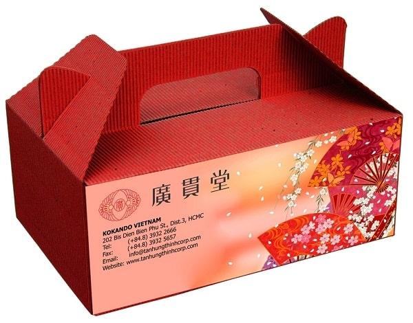 thùng carton thường được sử dụng để bày bán sản phẩm