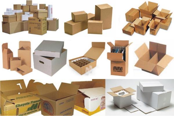 thùng carton được sử dụng để đóng gói hàng hóa