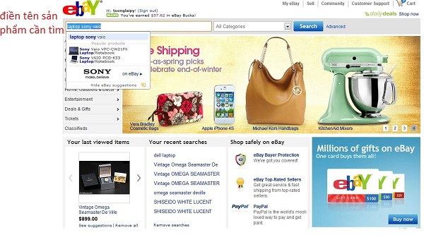 bán hàng online trên Ebay