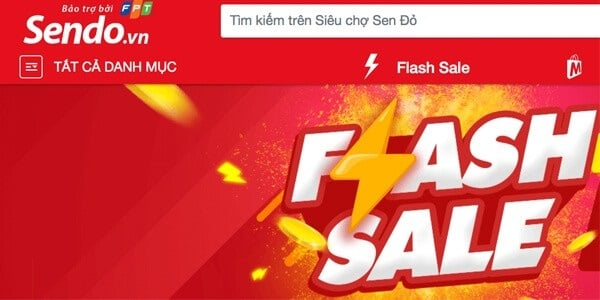 bán hàng online trên app của Sendo