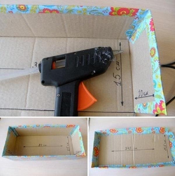 làm hộp quà bằng bìa carton