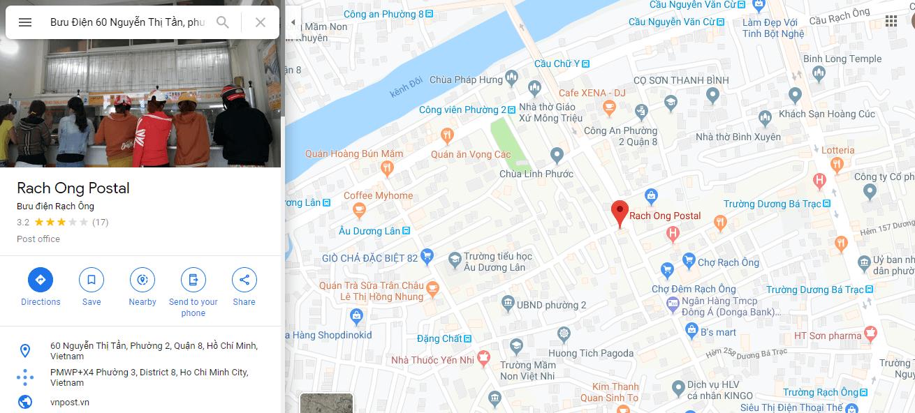 địa chỉ bưu điện quận 8 tphcm