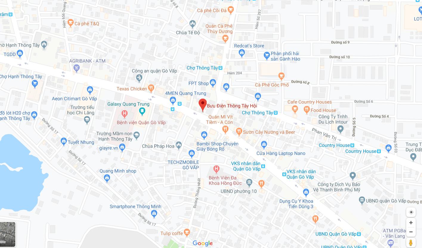 địa chỉ bưu điện quang trung