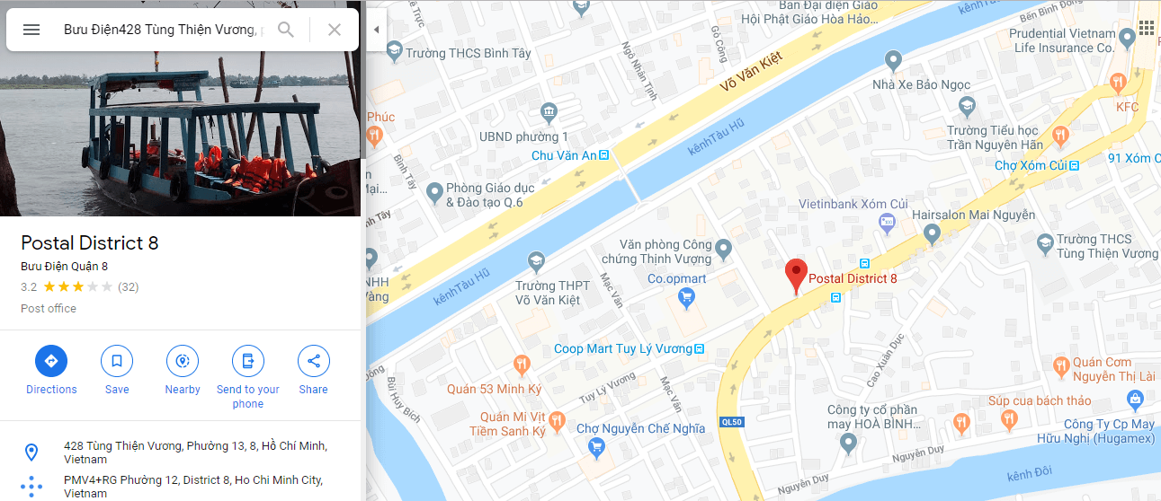 địa chỉ viettel post quận 8