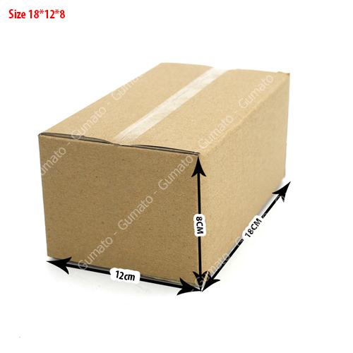Combo 20 hộp carton 3 lớp size: 18x12x8 cm