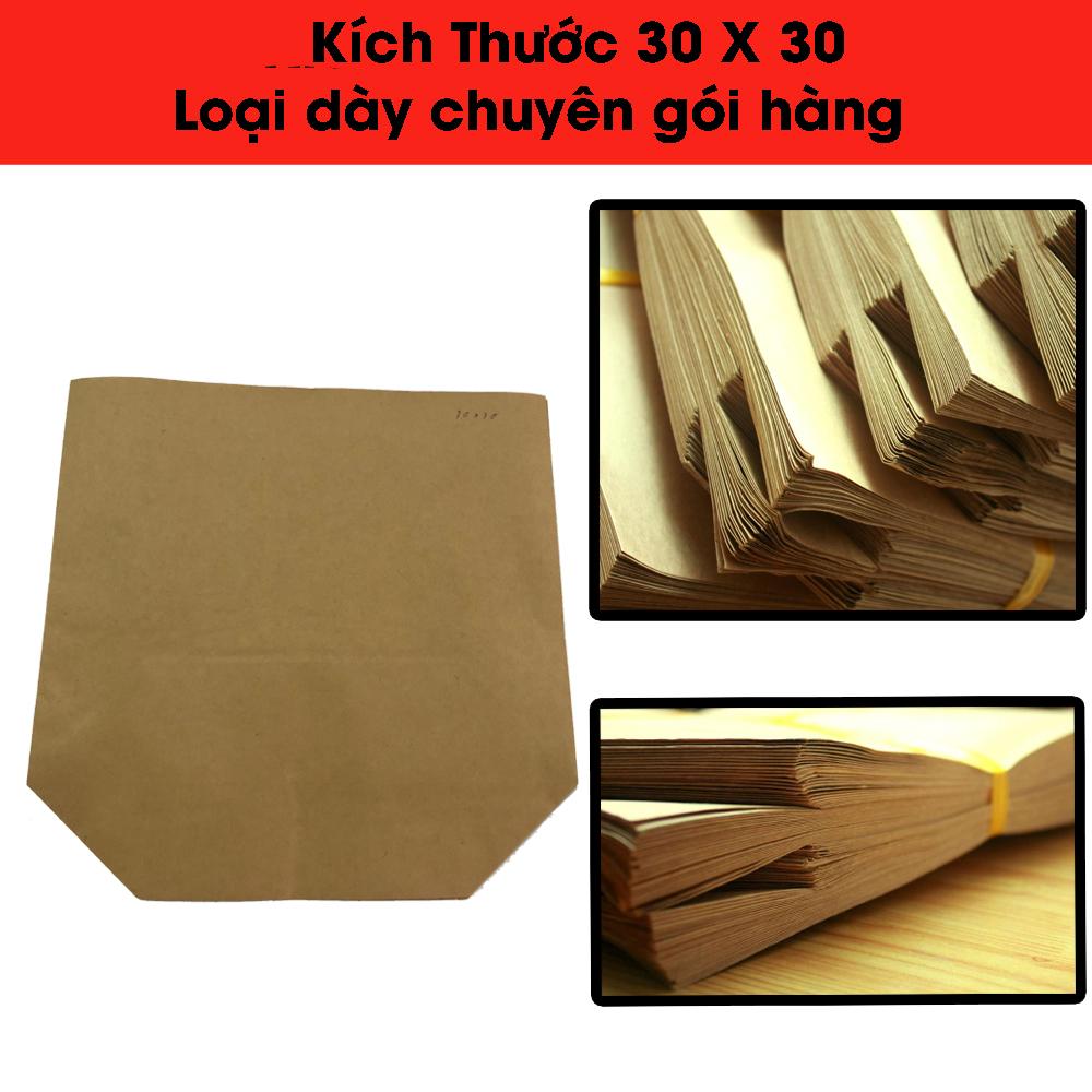 100 tờ Túi Giấy Kraft Gói Hàng size 30x30 cm