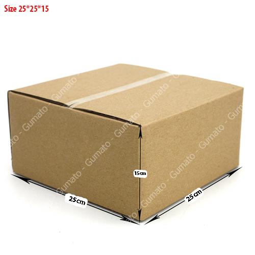 Combo 20 hộp carton 3 lớp MS: P69-size: 25x25x15 cm
