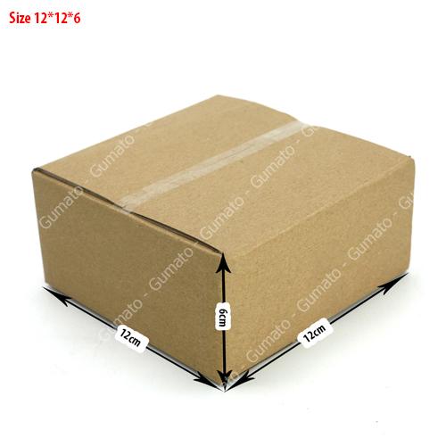 combo 20 hộp carton 12x12x6 cm