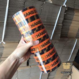 """Băng Keo in chữ """"Hàng Dễ Vỡ"""" màu Cam-Đen (1 cây = 6 cuộn)"""