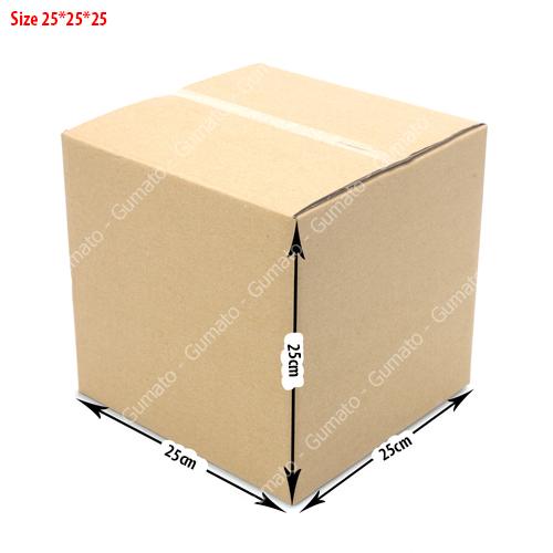 Combo 20 hộp carton 3 lớp MS: P71-size: 25x25x25 cm