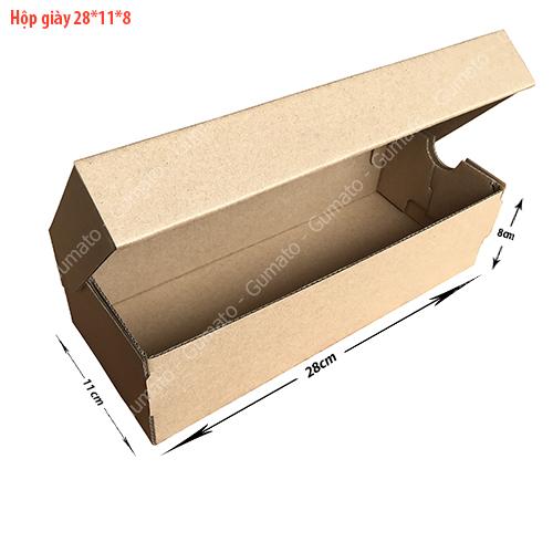 Combo 20 hộp carton đựng giày MS: HG1-size: 28x11x8 cm