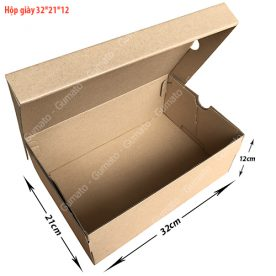 Combo 20 hộp carton đựng giày MS: HG4-size: 32x21x12 cm