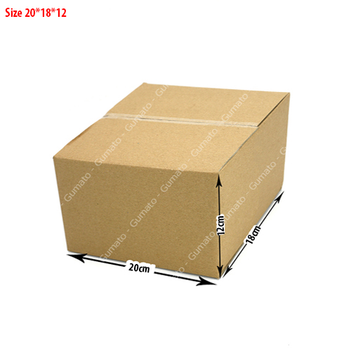 Combo 20 hộp carton 3 lớp MS: P55-size: 20x18x12 cm